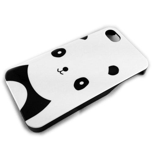 Apple iPhone 4/4S HARD CASE PANDA Bär CRO Rapper Design Schutz-Hülle Hard Case Schale Etui thematys®
