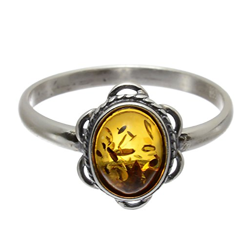 Sterling Silver and Baltic Amber Ring