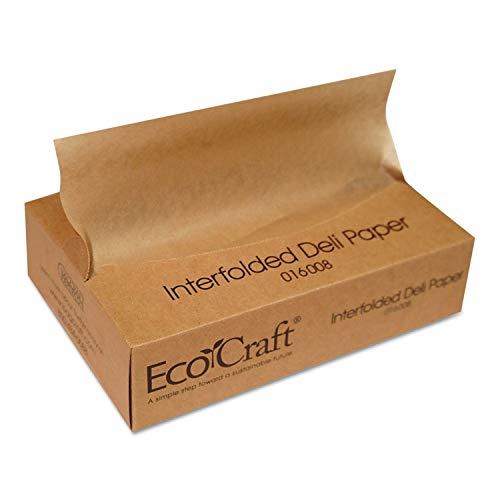 Bagcraft Papercon EcoCraft Interfolded Soy Wax Deli Sheets, 8 x 10 3/4, 500/Box - BGC016008