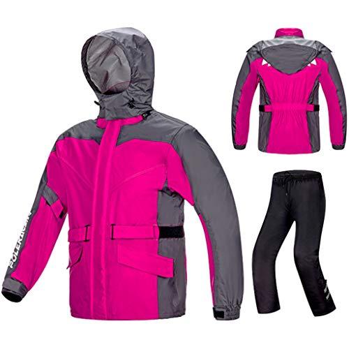 Rain Suit Waterproof Set Women's Split Raincoat Motorcycle Waterproof Rain Jacket Hooded Rainwear Outdoor Sports Rainsuit with Rain Pants Riding Camping Fishing Lightweight Rain Jacket