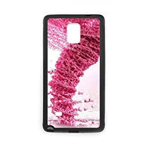 Pink Tornado Pattern New Style - SamSung Galaxy Note 4 TPU (Laser Technology) Case Cover Skin