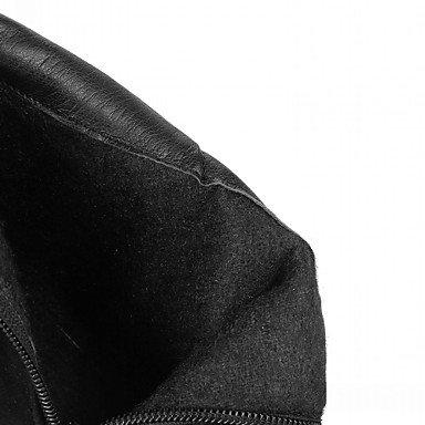 Heart&M Damen Stiefel Komfort Neuheit Stiefeletten Herbst Winter Kunstleder Normal Reißverschluss Blockabsatz Schwarz Braun Armeegrün Dunkelbraun black