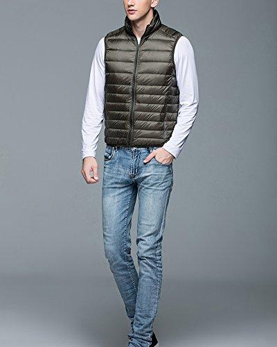 Veste Vert Sans Ultra Doudoune Chaud Manteaux Manches Legere Armée Homme r8AanqrCxw