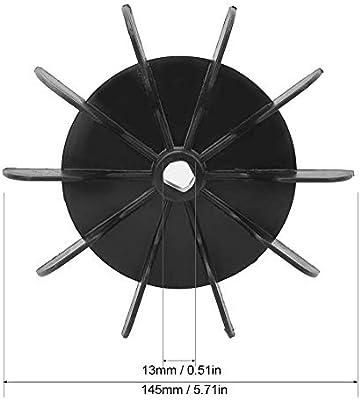 Aspa del ventilador del motor del compresor de aire, orificio interno de 13 mm de diámetro + aspa de 145 mm de diámetro con forma redonda, plástico de ingeniería blanco, impulsor de