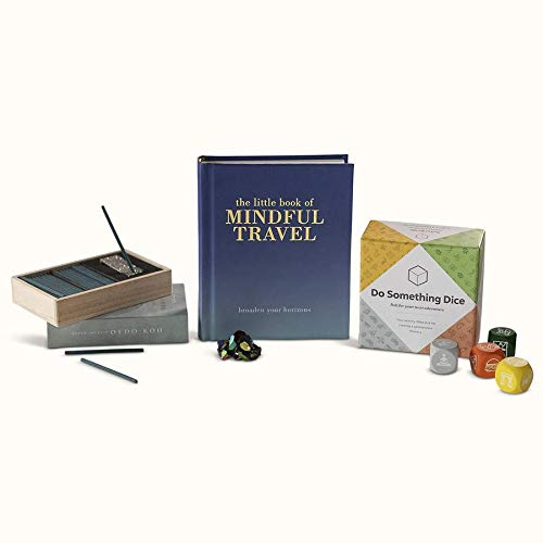 Inscape Mindful Travel Essentials Kit! Kit Includes The Little Book of Mindful Travel, Titanium Quartz, OEDO-KOH Water Drop Incense and Design's Do Something Dice! Don't Let Travel Stress You Out!