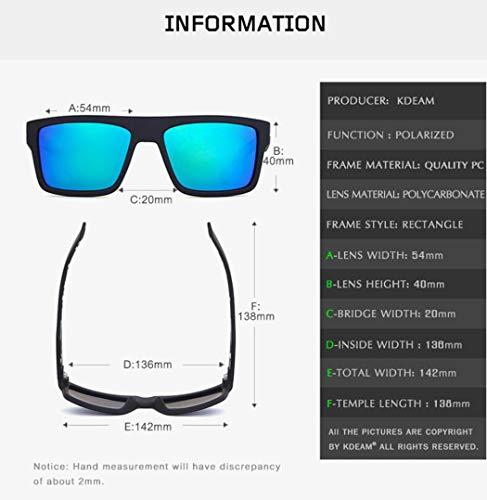 Sombra Negro Sol De Gafas De Sol Marco Clásica Hombre Polarizadas Senderismo Gafas wR0Xpqw