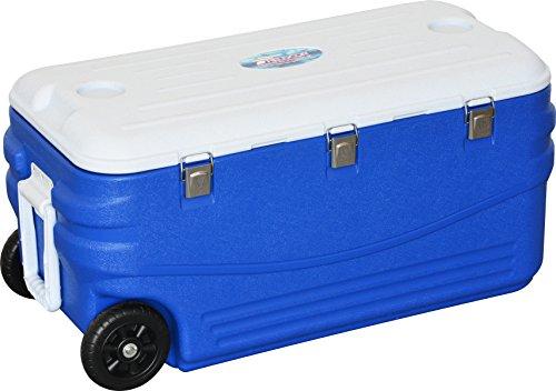ゴミ箱予備ジャズFIELDOOR クーラーボックス キャスター付き ブルー 46L / 50L / 80L / 100L / 150L (3層構造保冷 / 2WAYハンドル)