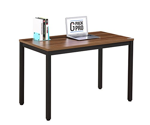 G-Pack Pro Home & Office Computer Desk – Adjustable Working, Secretary, Reception, Writing & Conference Table Furniture – Wood Panel With Glossy Finish & Sturdy Metal Frame (47