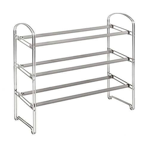 seville-classics-3-tier-expandable-shoe-rack-chrome