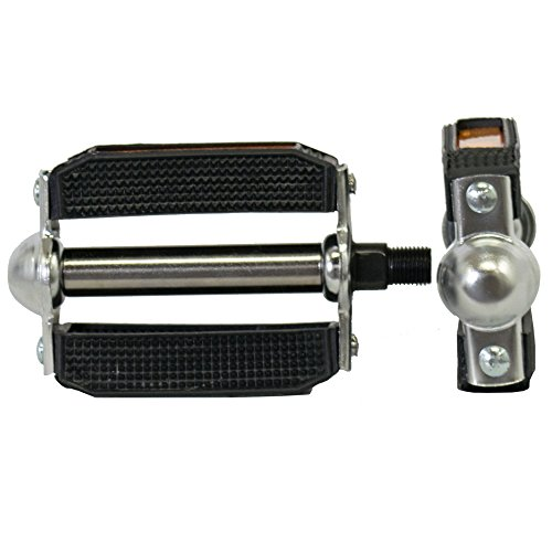"Cruiser Steel - Beach Cruiser Pedals. PVC body and steel cage (1/2"" Steel Axle) (Chrome)"