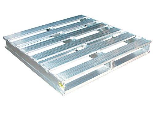 Vestil AP-4848 Heavy Duty Aluminum Pallet, 4000 lb. Capacity, 48'' x 48'' by Vestil (Image #1)