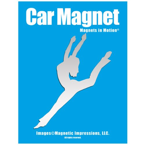 Contemporary Jazz Dancer Car Magnet Chrome (Magnet Dance)