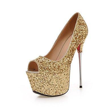 Zormey Les Talons De Femmes Chaussures D'¨¦t¨¦ Club Bureau Synth¨¦tiques &Amp Partie De Carri¨¨re &Amp Robe De Soir¨¦e Boucles Et Clous Gold Us6 / Eu36 / Uk4 / Cn36