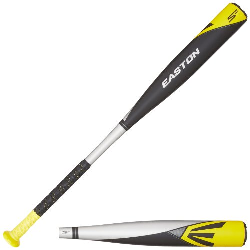 Stealth Aluminum Baseball Bat (Easton YB14S3 S3 Aluminum Youth Baseball Bat, Silver/Black/Yellow, 32-Inch/19-Ounce)
