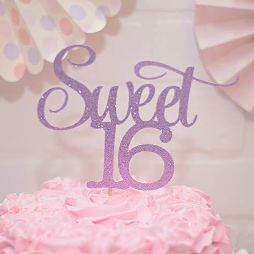 Sweet 16 Birthday Cake Topper Purple]()