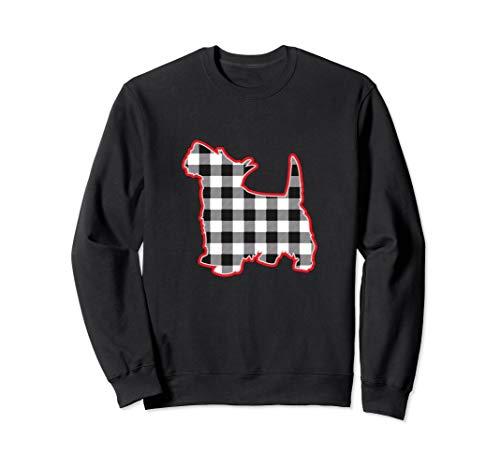 Buffalo Check Scotty Dog Shirt Scottish Terrier Sweatshirt