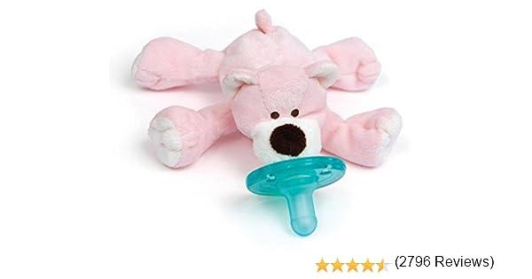 wubbanub Chupete – Baby de peluche con soothie rosa Bärchen rosa ...