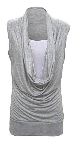 Fast Fashion - Camiseta sin mangas - para mujer gris