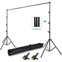 GLOSHOOTING Photography Backdrop Stands Support System Kit, 8.5 ft Tall x 10 ft Wide Photo Video Studio Heavy Duty Background Stand, Carrying Bag