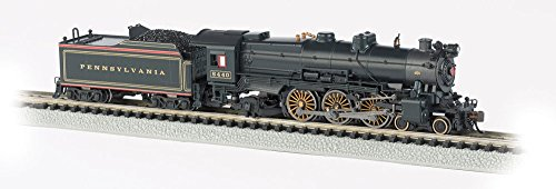 Bachmann Industries PRR K-4S 4-6-2 Pacific Steam Locomotive with DCC Sound - Pre-War with Slat Pilot (N Scale), Brunswick Green/Gold/Red Stripes (N Scale Dcc Steam Locomotives With Sound)