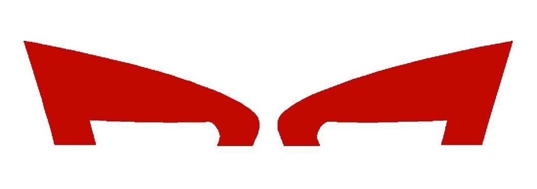 Precut Vinyl Tint Overlay for 2006-2008 BMW 3 Series E90 Sedan Reverse Taillight Signal (LCI STYLE) (Red) SlickMod