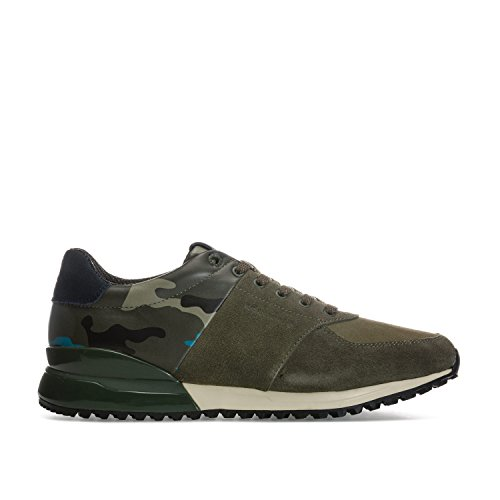 Men's Bjorn Borg R200 Low Cam Trainers in Olive Green Multi- Full Lace Fastening