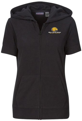 sippi Golden Eagles Women's Short Sleeve Full Zip Polar Fleece Hoodie, Black, Medium (Southern Mississippi Golden Eagles Jackets)