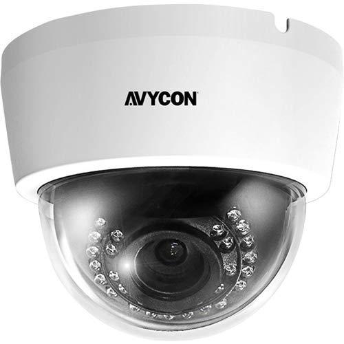 AVYCON AVC-DTA52VLT, 5MP, 2.8~12 mm MP DC Auto Iris Varifocal Lens (ICR) Coax BNC Connection HD-TVI/CVI/AHD/Analog, Indoor Dome Camera 12mm Dc Auto Iris Lens
