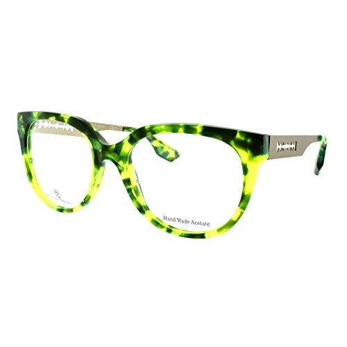 Alexander McQueen MCQ 0026 RKB Lime Havana Gold Cateye - Mcqueen Sunglasses