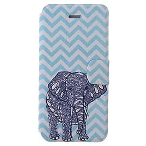 WQQ Waves historieta del elefante del modelo del caso del cuerpo completo con ranura para tarjeta para el iPhone 5/5S