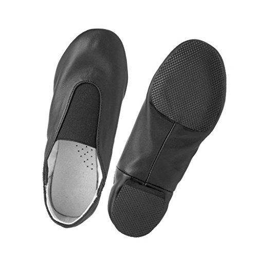 Soft Leather Cow On Jazz Sole Sneakers Slip Black Shoes Men Jazz Women Split 5AqcZWwUHa