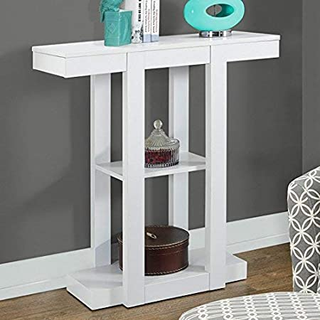 32 Monarch Specialties I 2455 White Hall Console Accent Table