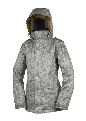 Betty Rides Women's Acid Wash Ava Parka Snowboard/Ski Jacket (Acid Grey, Small)