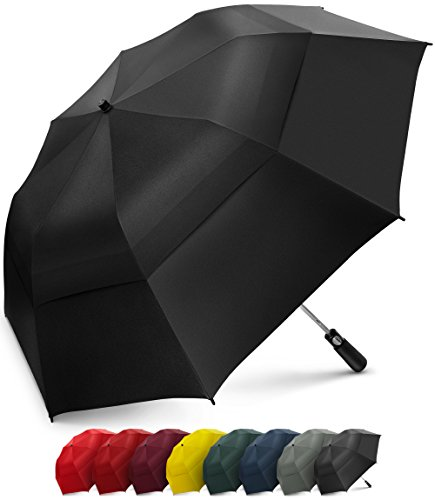 - EEZ-Y 58 Inch Portable Golf Umbrella Large Windproof Double Canopy - Automatic Open Strong Oversized Rain Umbrellas