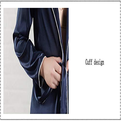 A Casual Seta Maniche Abbigliamento l Donna Di Per In Loveni Casa Pantaloni Da Colore Sexy Pigiama Lunghe Set La Abiti Blu Z6waaq