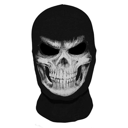 Acamifashion The Grim Reaper Skull Ghost Cosplay Costume Halloween Hats Ski Full Face Mask -