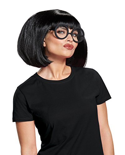 Disguise Women's Edna Costume Kit, Black, One Size Adult