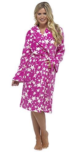 KrishWear - Robe de chambre - Femme rose rose M
