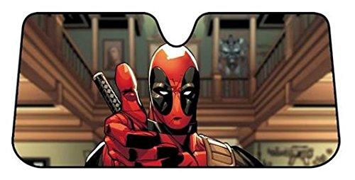 Plasticolor 003711R01 Marvel Deadpool Thumbs Up Accordion Sunshade (Plasticolor Accordion Sunshade)