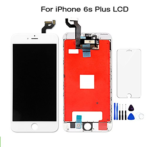 hot sale online 8b592 6eaef Amazon.com: for iPhone 6S Plus LCD Screen Replacement White -New OEM ...