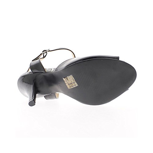 Sandales noires vernies à talon de 11cm
