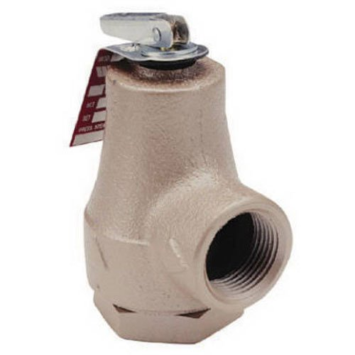 Watt 374A Boiler Pressure Relief Valve, 3/4 in, FIP, 30 - 150 psi, Iron and Forged Brass Inlet Body