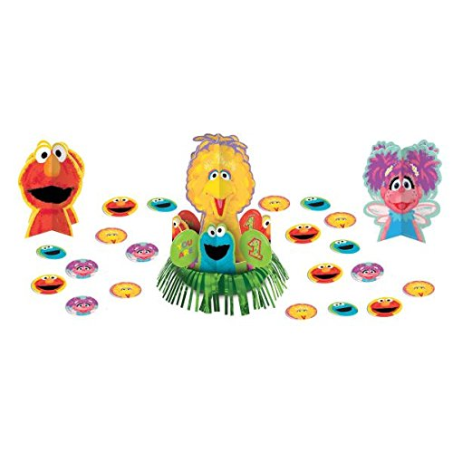 Amscan Sesame Street 1St Birthday Party Table Decorating Kit