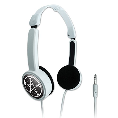 (Novelty Travel Portable On-Ear Foldable Headphones Symbols - Pentacle Moon Goddess Wiccan Witch Nature)
