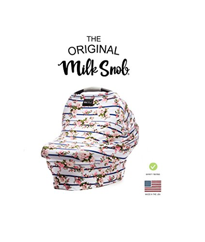 AS SEEN ON Shark Tank The Original Milk Snob Infant Car Seat Cover and Nursing Cover Multi-Use 360° Coverage Breathable StretchyHampton Rose