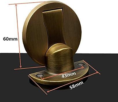 Zhi Jin 1Pc Premium Invisible Drilling//Adhesive Magnetic Door Stopper Heavy Duty Door Stop Catch Black