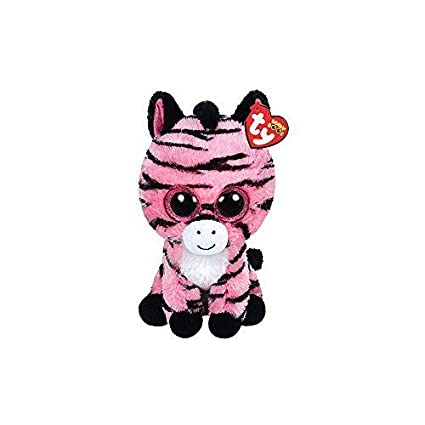 02f77994547 Image Unavailable. Image not available for. Color  Claire s Accessories Ty  Beanie Boos Plush Zoey the Pink Zebra ...