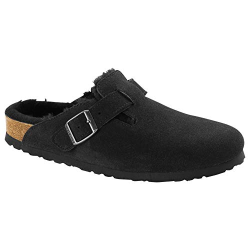 Birkenstock Women's Boston Shearling Clog Black Suede/Black Shearling Size 39 M EU from Birkenstock