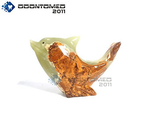 OdontoMed2011 Onyx Marble Animal Shape Dolphin Style HANDICRAFTS Hand Curved Home Decorative by OdontoMed2011