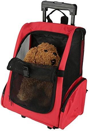 Zerone Tragbare Haustier-Tragetasche und Rucksack, Reisegepäck, wasserdicht, für Katzen und Hunde, mit Teleskopgriff, 51 x 39 cm